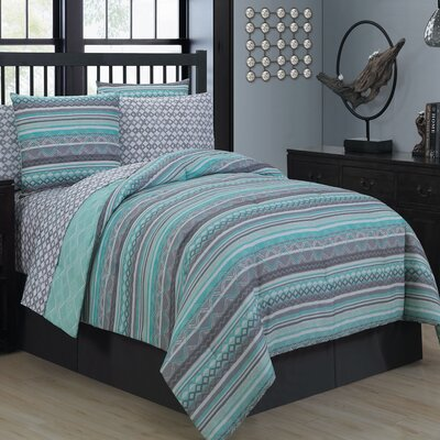 Robert 8 Piece Bed in a Bag Set Size: King