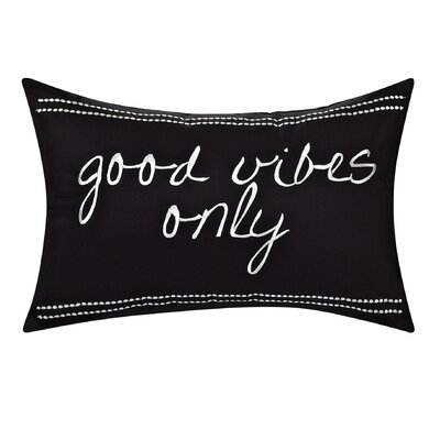 Sergio Cotton Good Vibes Decorative Lumbar Pillow