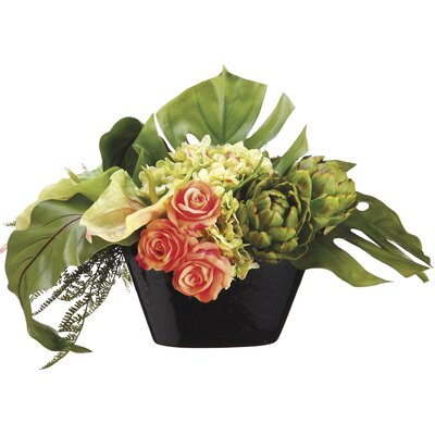 Anthurium/Rose/Hydrangea in Pot