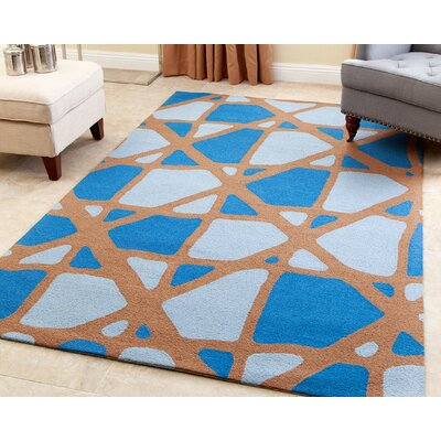 Shawn Hand-Tufted Blue Area Rug Rug Size: 3 x 5