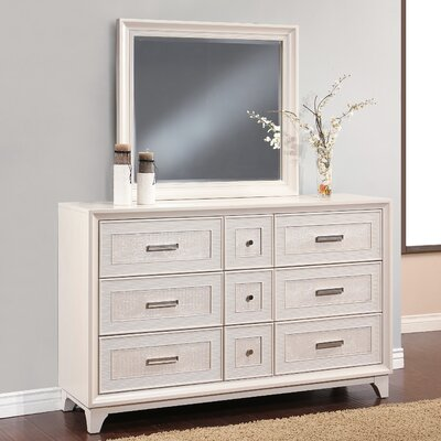 Antoinette 9 Drawer Dresser with Mirror