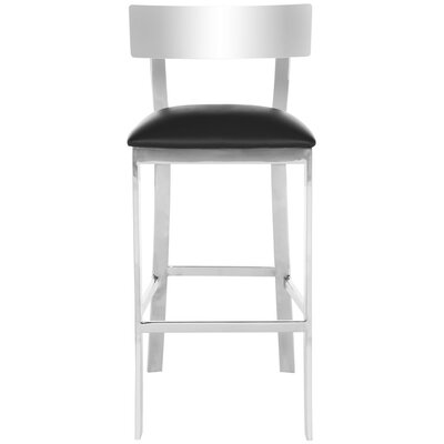 Bette Bar Stool Upholstery Color: Black
