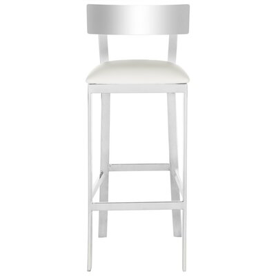 Bette Bar Stool Upholstery Color: White