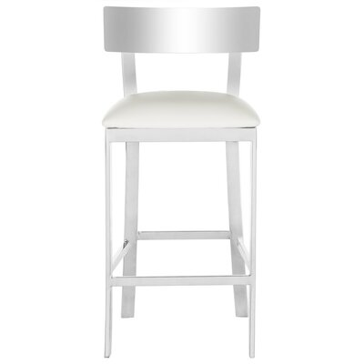 Bette Bar Stool Upholstery Color: White