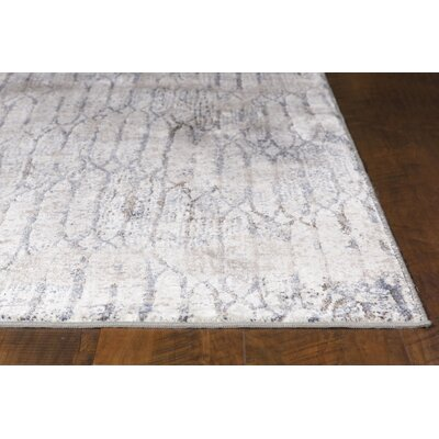 Ashlee Gray/Blue Area Rug Rug Size: Rectangle 22 x 37