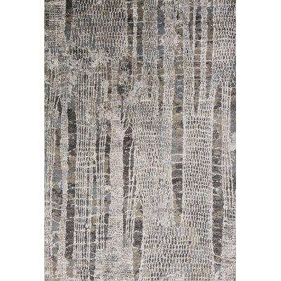 Ashlee Gray/Ivory Area Rug Rug Size: 53 x 77