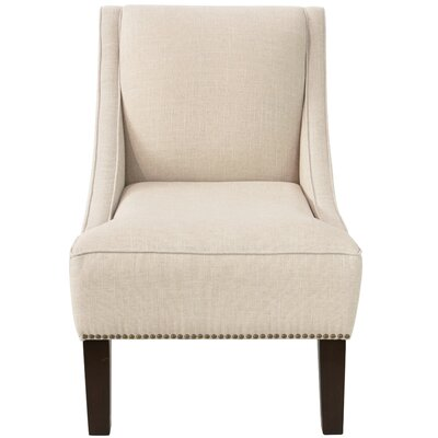 Andy Linen Nail Button Swoop Slipper Chair