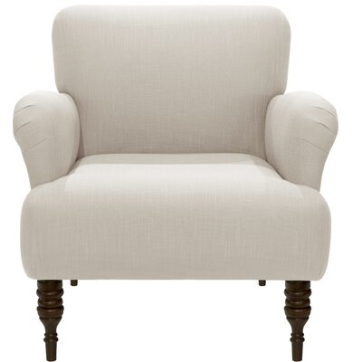 Angelita Linen Arm Chair Color: White