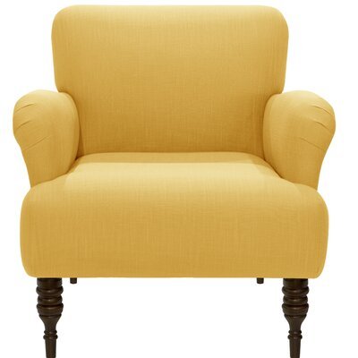 Linnet Armchair Upholstery: Linen French Yellow
