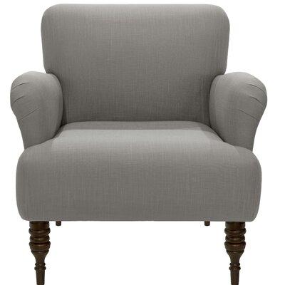 Angelita Linen Arm Chair Color: Gray