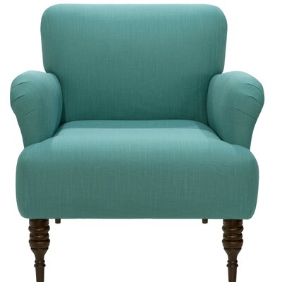 Angelita Linen Arm Chair Color: Laguna