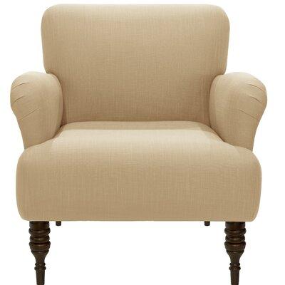Angelita Linen Arm Chair Color: Sandstone