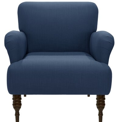Angelita Linen Arm Chair Color: Navy