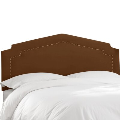 Andy Upholstered Panel Headboard Size: Twin, Upholstery Color: Chocolate