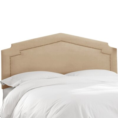 Andy Upholstered Panel Headboard Size: Twin, Upholstery Color: Oatmeal