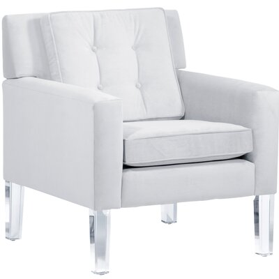 Andy Arm Chair Color: White