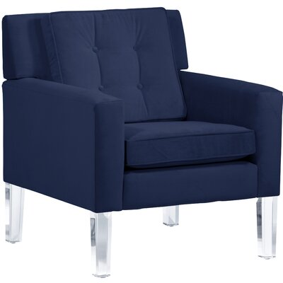 Andy Arm Chair Color: Navy