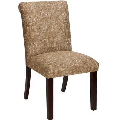 Angelita Side Chair Upholstery: Ogee Paisley Copper