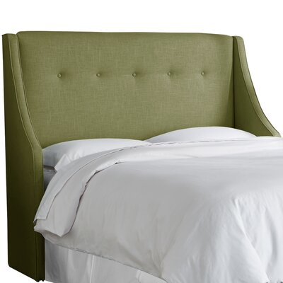 Andy Tufted Upholstered Wingback Headboard Size: California King, Upholstery Color: Olive