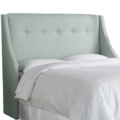 Andy Tufted Upholstered Wingback Headboard Size: California King, Upholstery Color: Swedish Blue