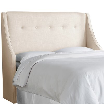 Andy Tufted Upholstered Wingback Headboard Size: Full, Upholstery Color: Talc