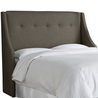 Andy Tufted Upholstered Wingback Headboard Size: Queen, Upholstery Color: Cindersmoke