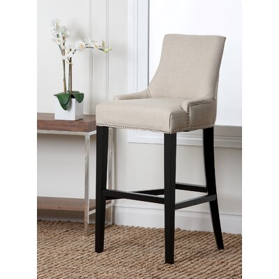 Keziah 30 Bar Stool Upholstery: White