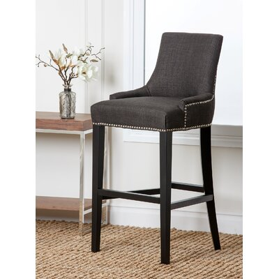 Keziah 30 Bar Stool Upholstery: Grey