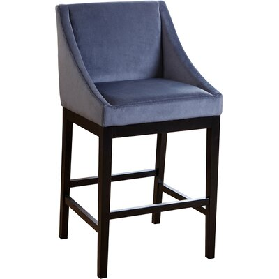 Barbra Bar Stool Upholstery: Blue