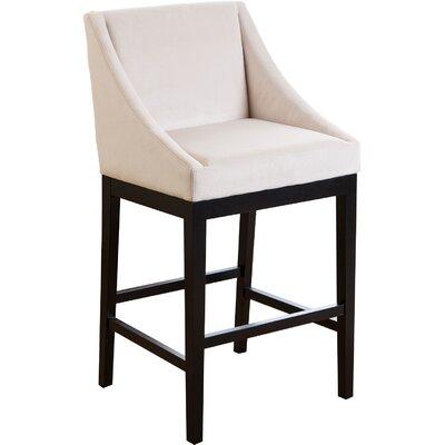 Barbra Bar Stool Upholstery: Cream
