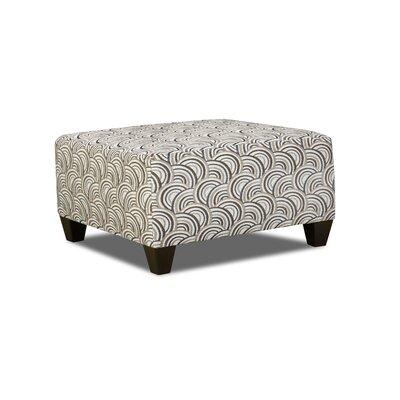 Simmons Upholstery Teri Cocktail Ottoman Upholstery: Basta Silver