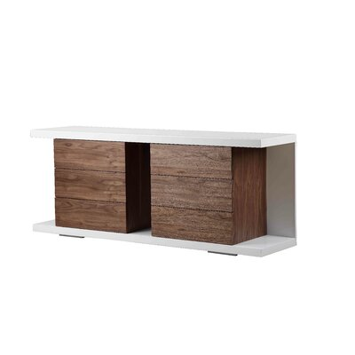 Benny Sideboard Finish: White/Walnut