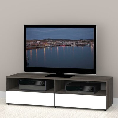 Maryjo 60 TV Stand Color: White and Ebony