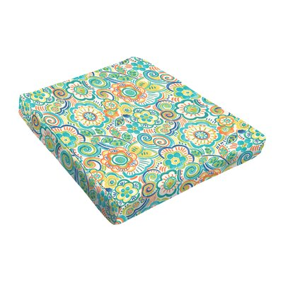 Outdoor Dining Chair Cushion Fabric: Green Multi