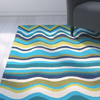 Carissa Cannon Beach Hand-Woven Light Green/Blue Indoor/Outdoor Area Rug Rug Size: 2 x 4