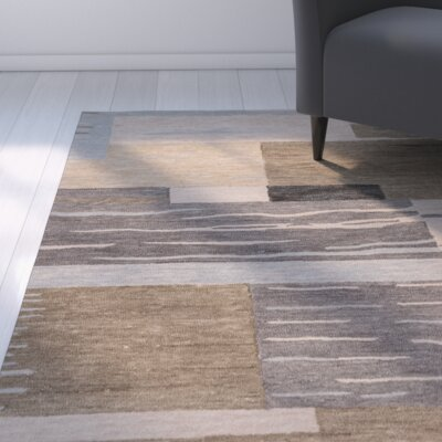 Brui Hand-Tufted Natural/Gray Area Rug Size: Runner 26 x 8