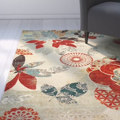 Freeburg Red Area Rug Rug Size: Rectangle 76 x 10
