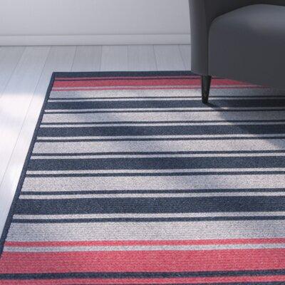 Caitlin Hand-Woven Blue/Gray Area Rug Rug Size: 3 x 5