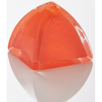 Paperweight Sculpture Color: Orange