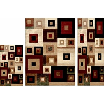 Cathryn 3 Piece Area Rug Set
