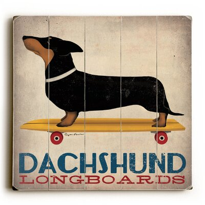 Dachshund Longboards Wall Decor