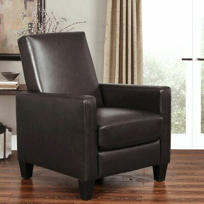Byron Pushback Recliner Upholstery: Dark Brown