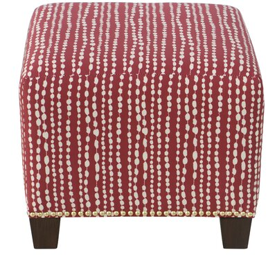 Latisha Square Nail Button Ottoman