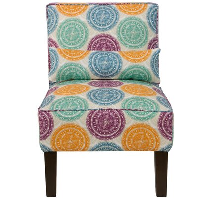 Thurston Slipper Chair Upholstery: Pen Medallion Multi OGA