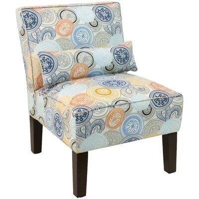 Thurston Slipper Chair Upholstery: Painterly Medallion Multi OGA
