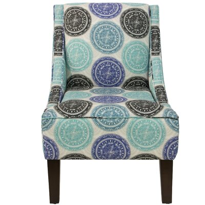 Goldhorn Armchair Upholstery: Pen Medallion Blue OGA, Nailhead Detail: No Trim