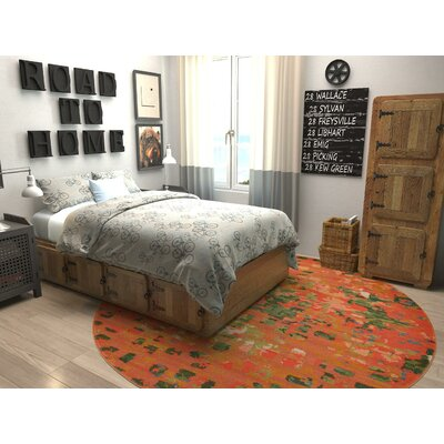 Lilia Orange Area Rug Rug Size: 33 x 53