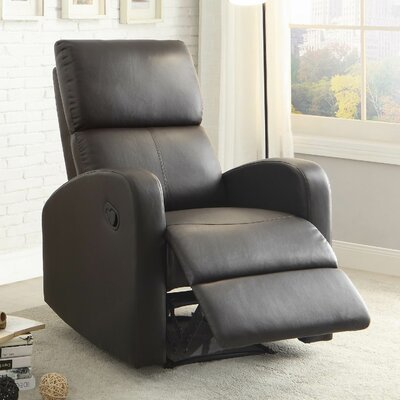 Larry Recliner Color: Dark Brown