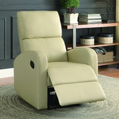 Larry Manual Recliner Color: Taupe