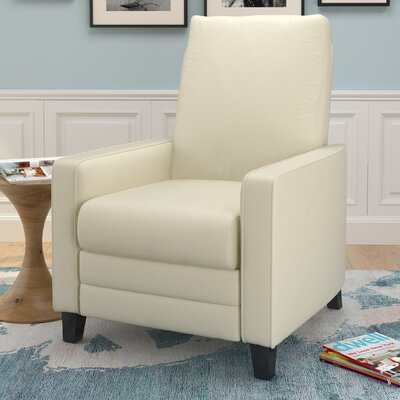 Annarie Manual Recliner Upholstery: Cream